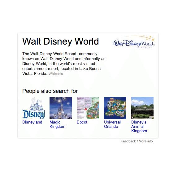 Disney World Info Box with Snazzy Logo