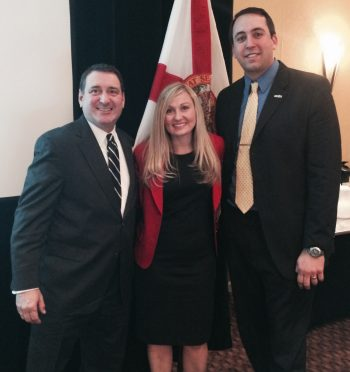 Florida's Secretary of Commerce and Enterprise Florida's President & CEO Gray Swoope with Katie and Alex at the EFI Board Meeting in Tallahassee.